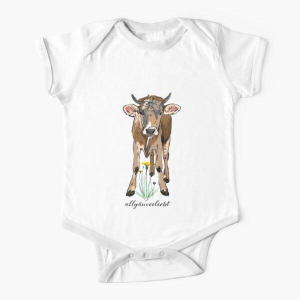 allgäuverliebt – Jung Kuh / Schumpen mit Löwenzahn Baby Body Kurzarm