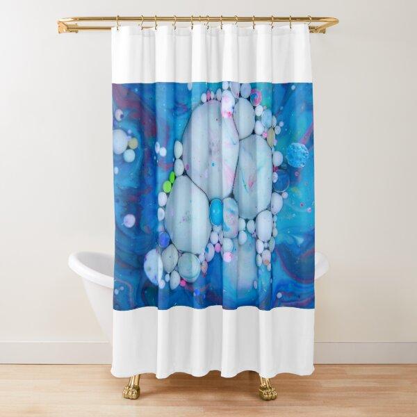 Bubbles Art Crab Shower Curtain