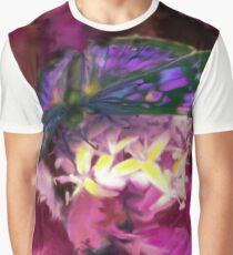 Purple Butterfly Art Graphic T-Shirt