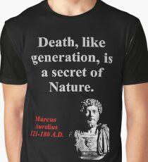 Death Like Generation - Marcus Aurelius Graphic T-Shirt
