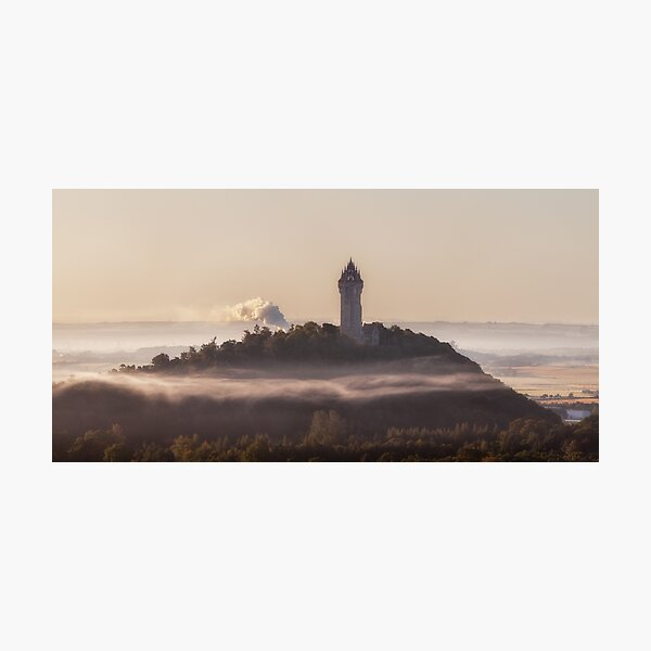 Wallace monument near Stirling, Panorama Photographic Print