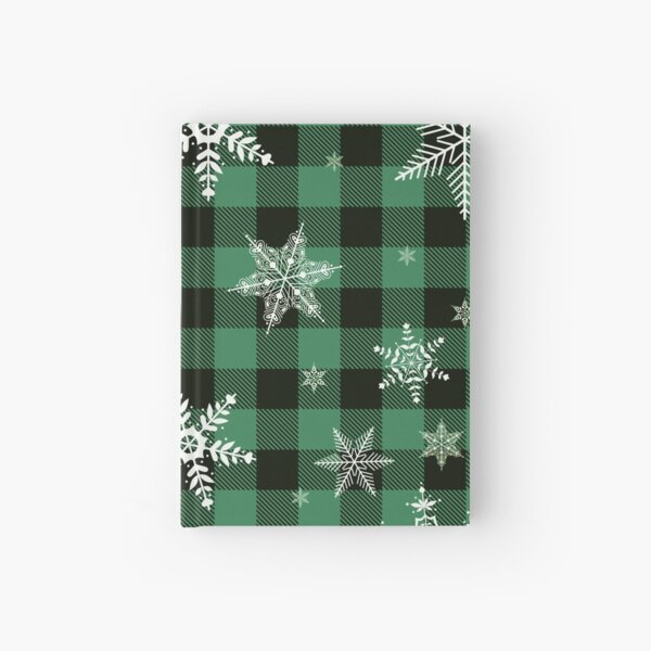 Green Let It Snow Plaid  Hardcover Journal