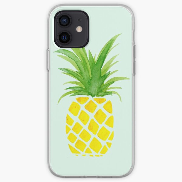 Watercolor Pineapple iPhone Soft Case