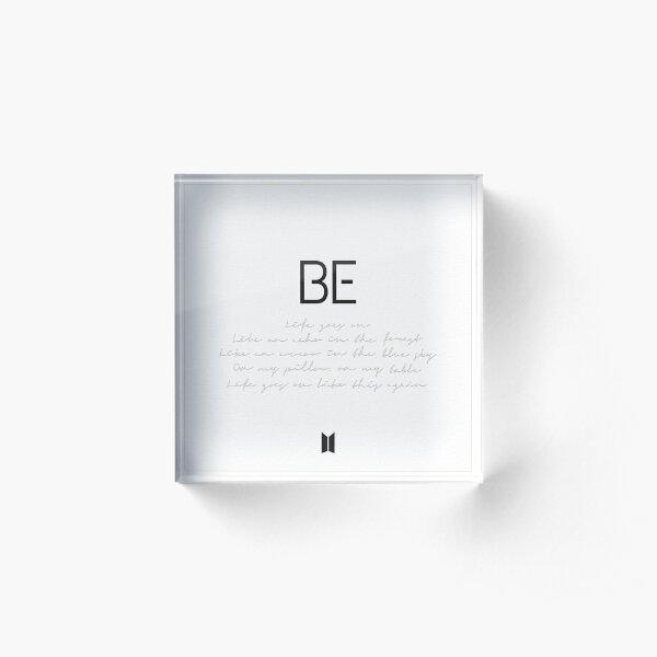 BTS 'BE' Cover Acrylic Block
