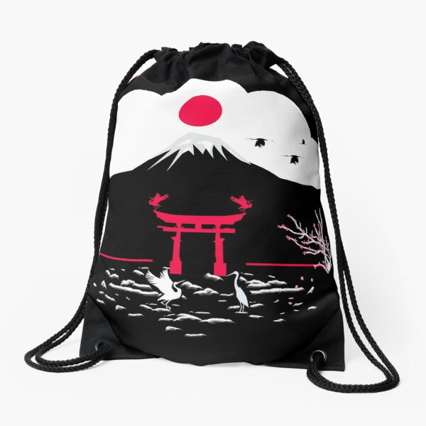 japon  Drawstring Bag