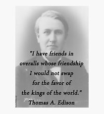 Friends In Overalls - Thomas Edison Photographic Print