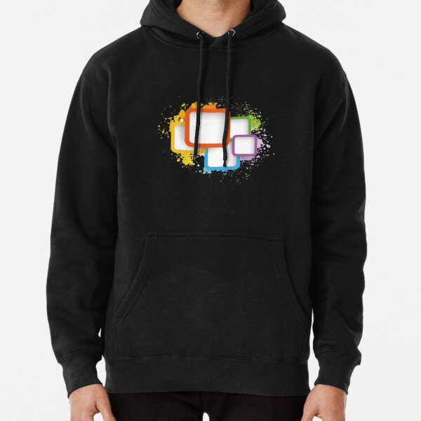 Colored Squares Pullover Hoodie