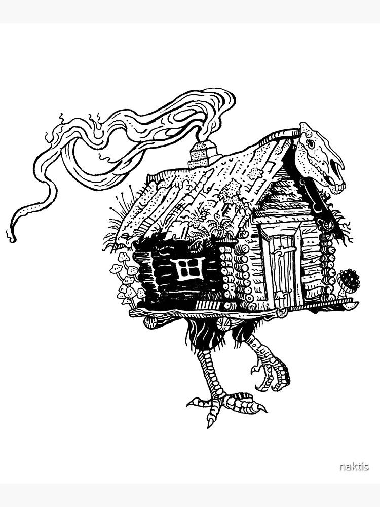 Baba Yaga's hut by naktis