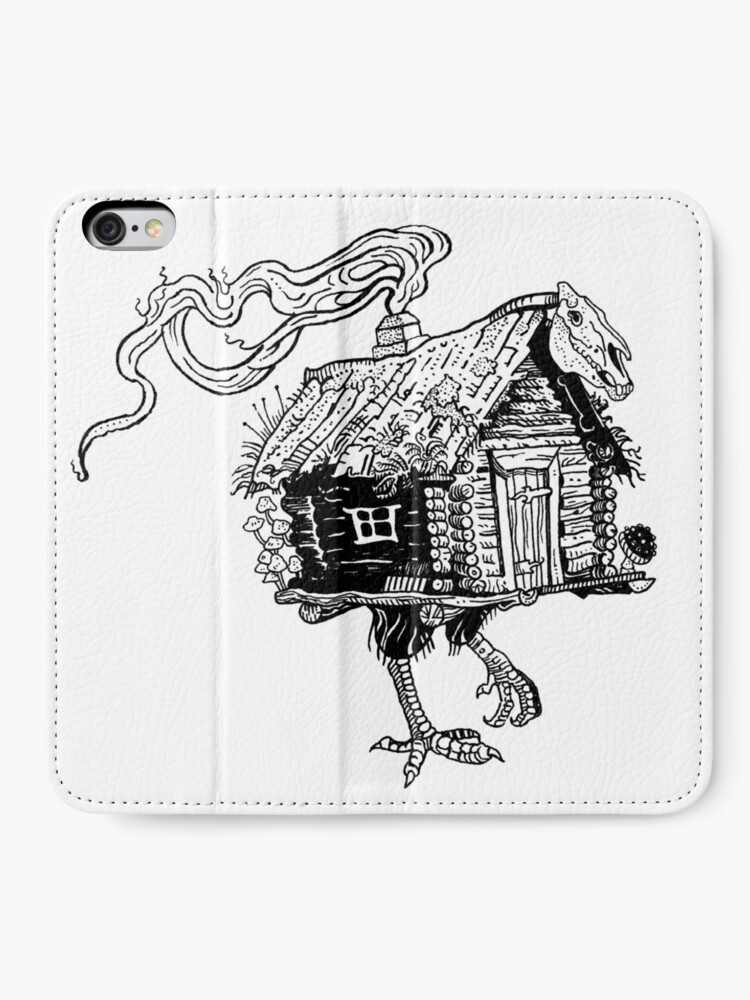 Alternate view of Baba Yaga's hut iPhone Wallet