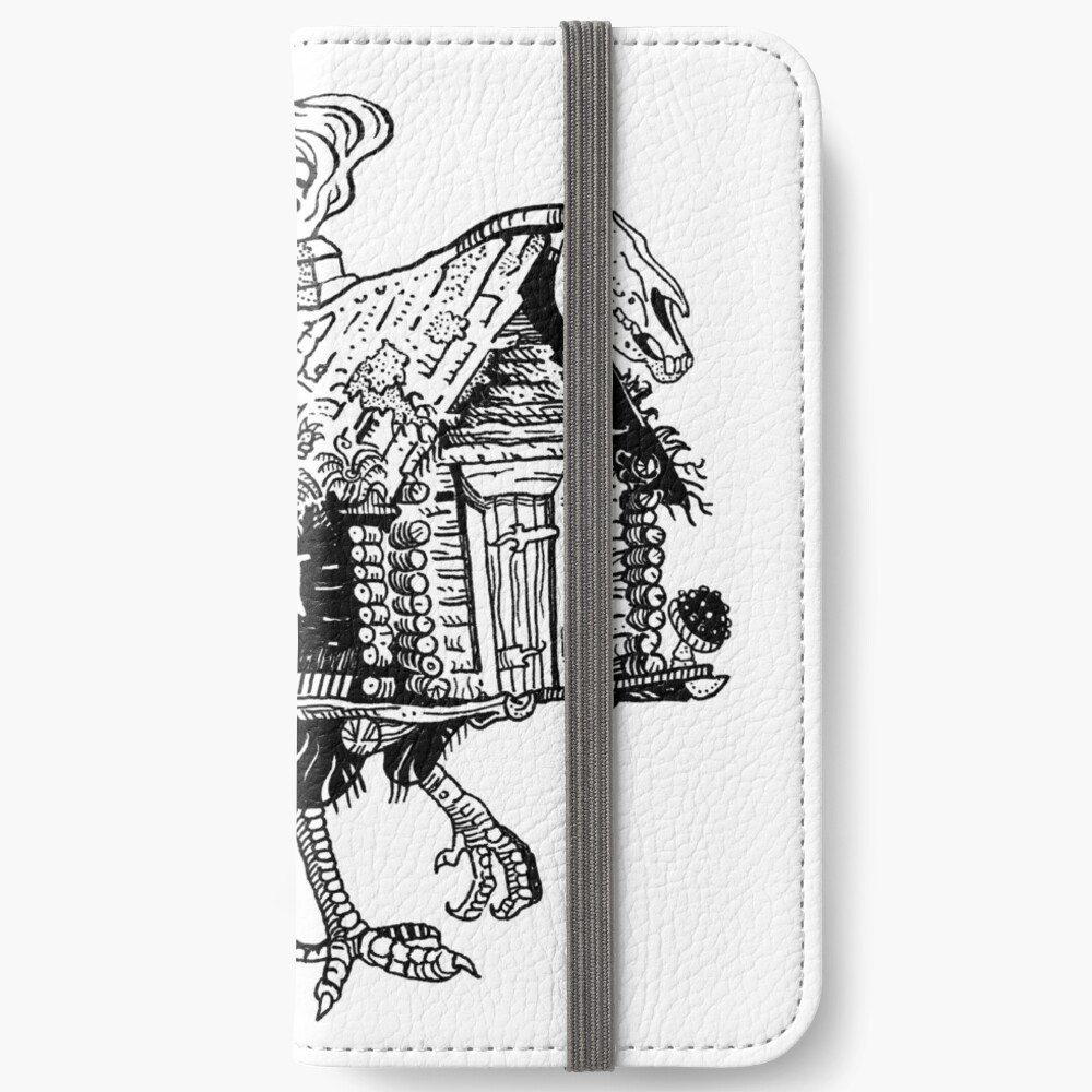 Baba Yaga's hut iPhone Wallet