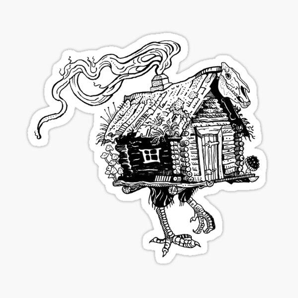Baba Yaga's hut Sticker