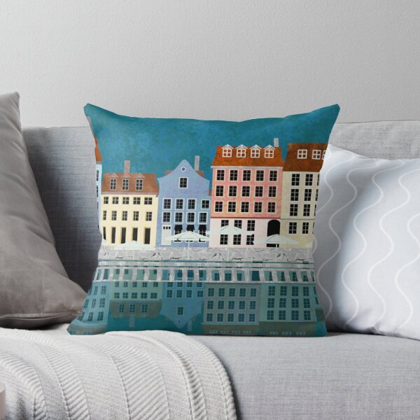 Nyhavn Series 2 Throw Pillow