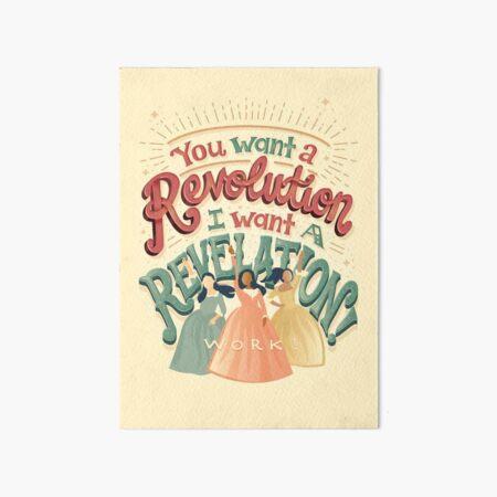 Hamiltion Sisters Work Art Board Print