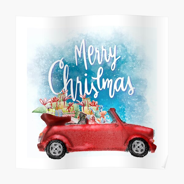 Cabrio Christmas Gift Poster