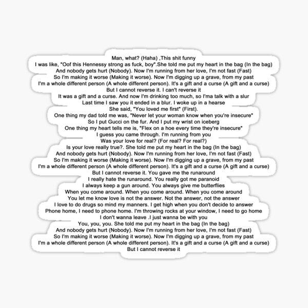 Robbery - Juice Wrld Lyrics Sticker