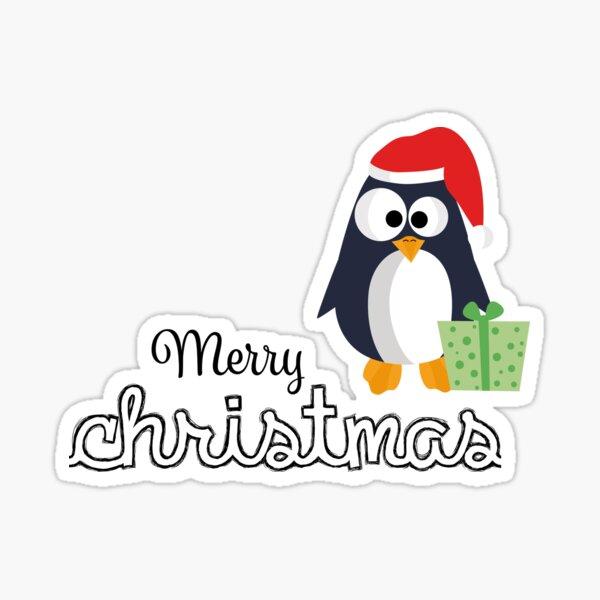 süßer Weihnachts-Pinguin Merry christams Sticker