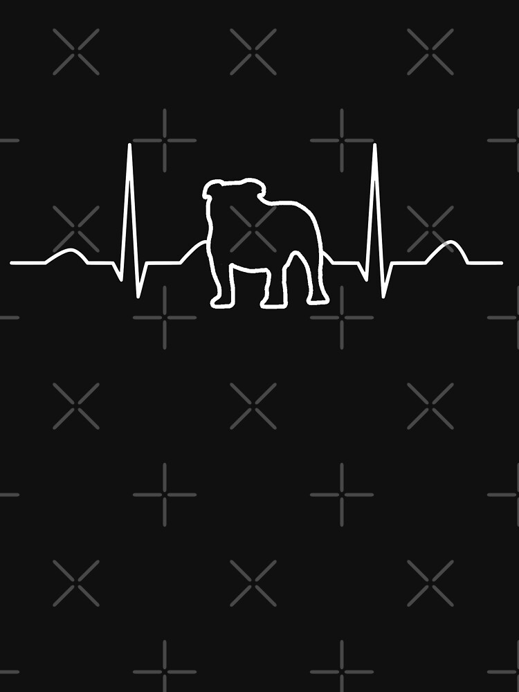 Bulldog Heartbeat Design Dog Lovers by NextLVLShirts