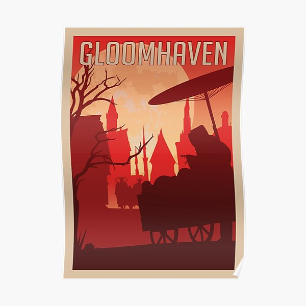 Gloomhaven Board Game- Minimalist Travel Poster Style - Gaming Art Poster