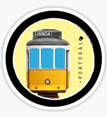 Symbols of Portugal - Lisboa Lisbon Tram #02 Sticker