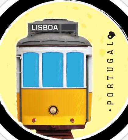 Symbols of Portugal - Lisboa Lisbon Tram #02 Sticker