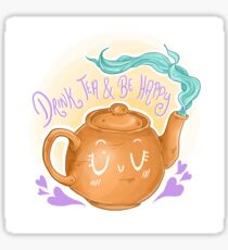 tea always helps  Sticker