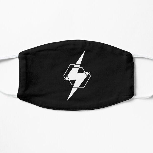LM White Lighting Bolt Small Mask
