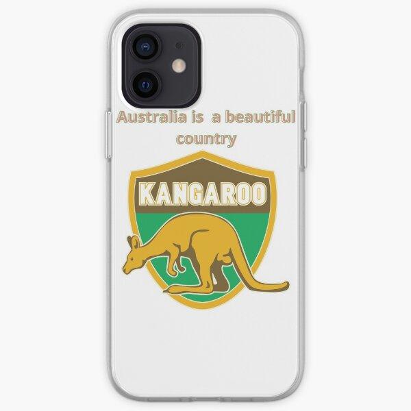 Beautiful kangaroo is an Australian animal iPhone Soft Case