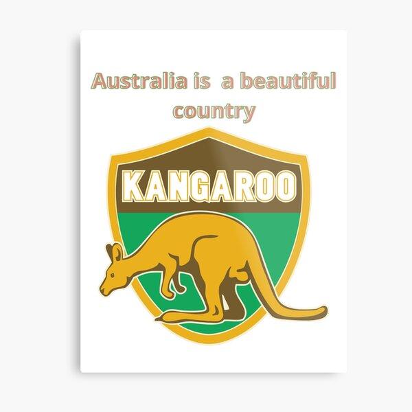 Beautiful kangaroo is an Australian animal Metal Print