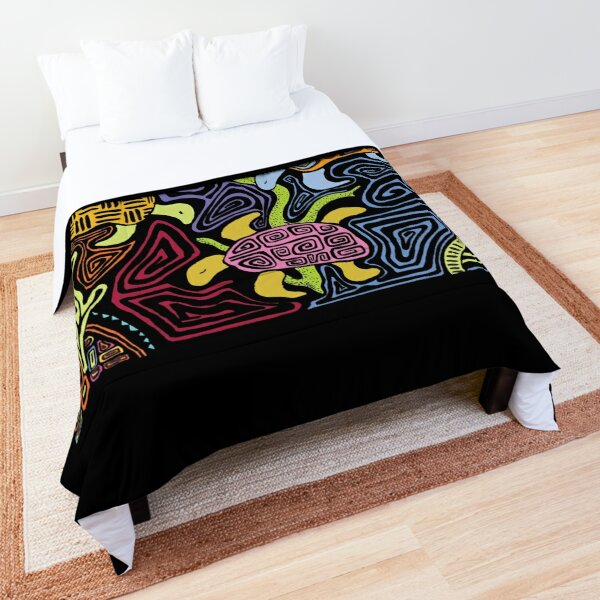 Mola Turtles - Colorful Comforter