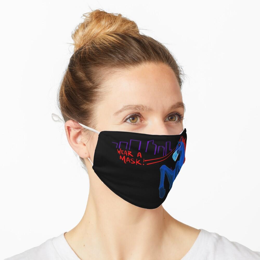 Blucifer Says Wear A Mask! Mask