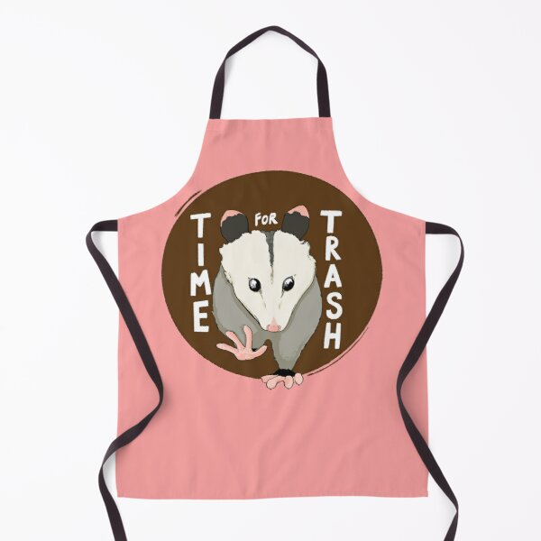 Time for Trash Opossum Apron