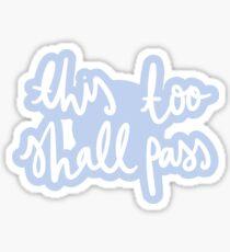 ok go - this too shall pass - remake Sticker
