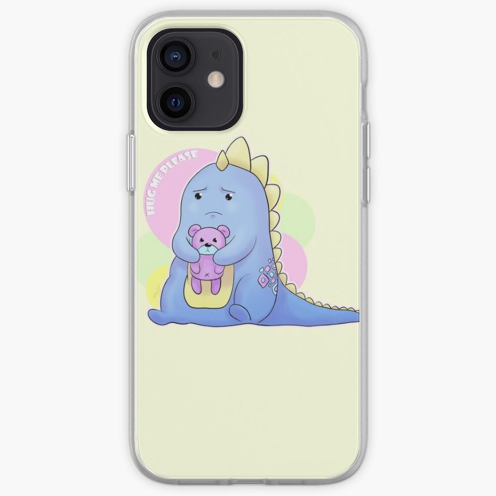 Sad Dino Series - Hug me Please iPhone Case & Cover