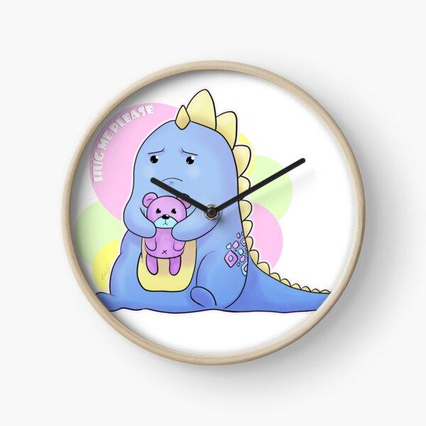 Sad Dino Series - Hug me Please Clock