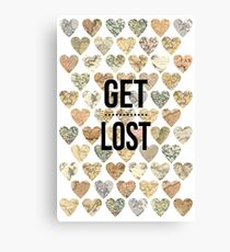Get lost (go tavel) Canvas Print