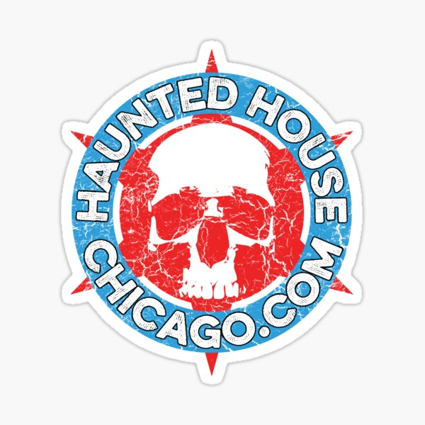 Haunted House Chicago Circle Logo Sticker