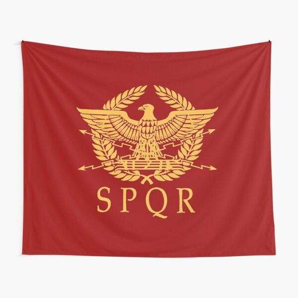 SPQR (Crimson y Gold) Tela decorativa