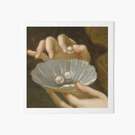 Hands with pearls painting detail Art Board Print