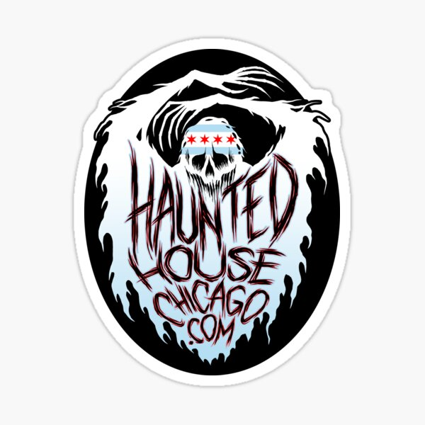 Haunted House Chicago Ghost Sticker
