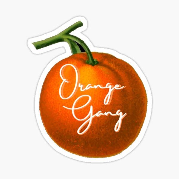 Orange gang fruit Sticker