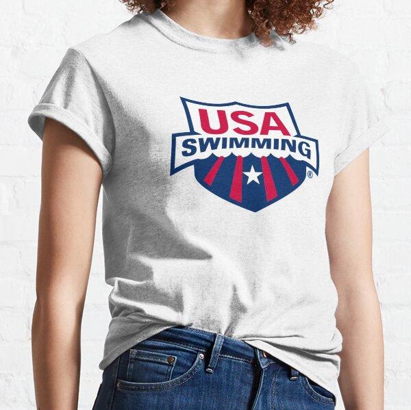 Swimming Team, USA Logo Classic T-Shirt
