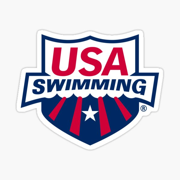 Swimming Team, USA Logo Sticker