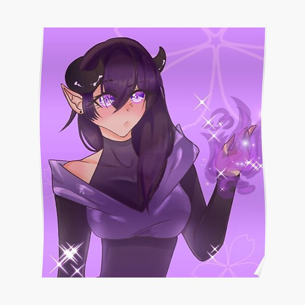 Aphmau Purple Girl Poster