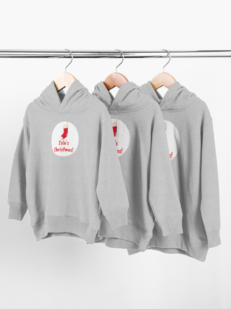 Alternate view of Isla's Christmas Toddler Pullover Hoodie