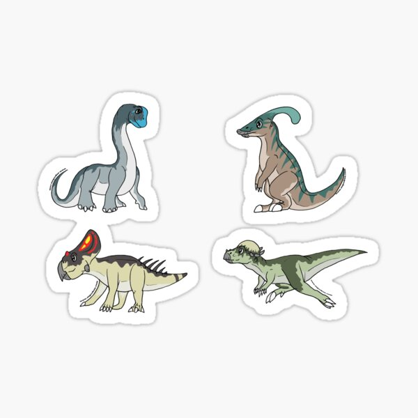 Dinosaur Stickers - Herbivore Set #1 Sticker