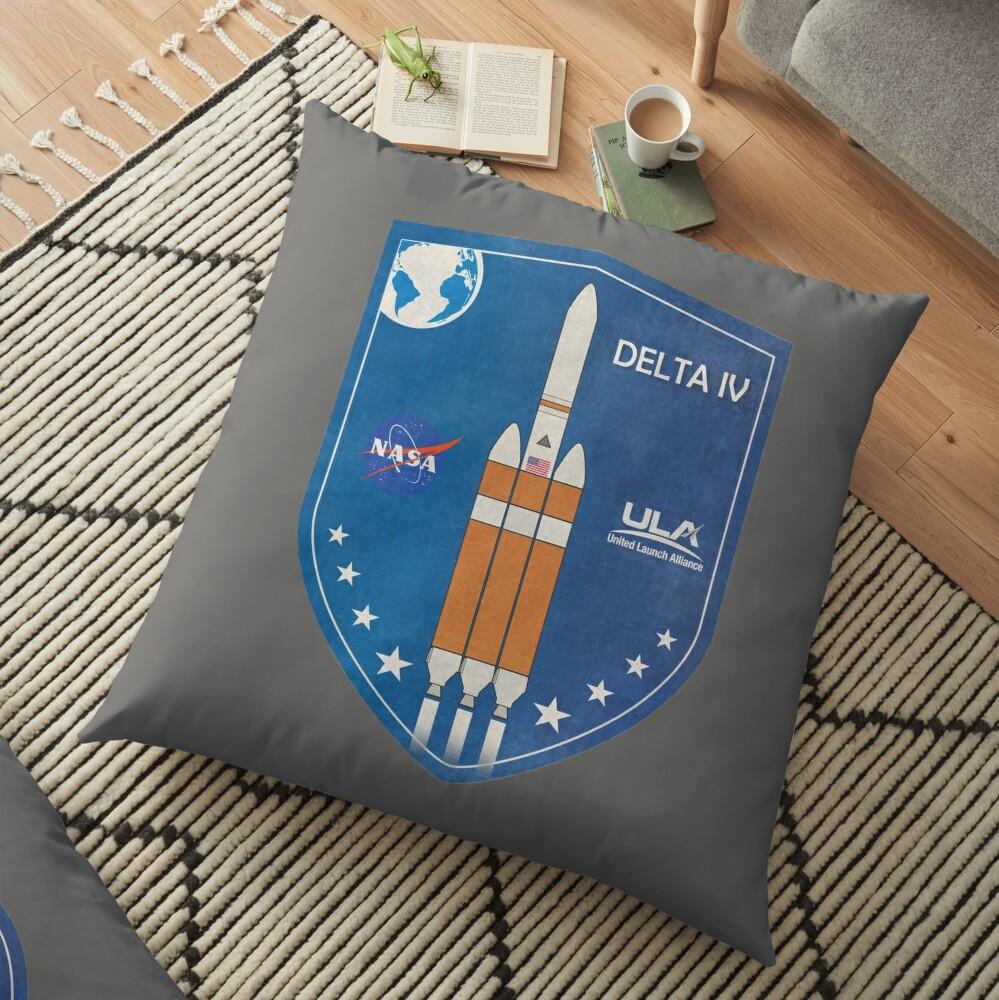 Delta IV Rocket Badge Floor Pillow