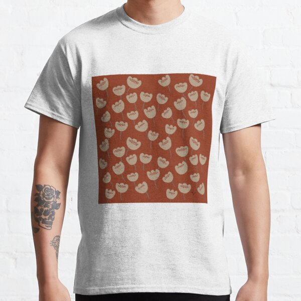 Little garden of tulips. Floral pattern. Classic T-Shirt