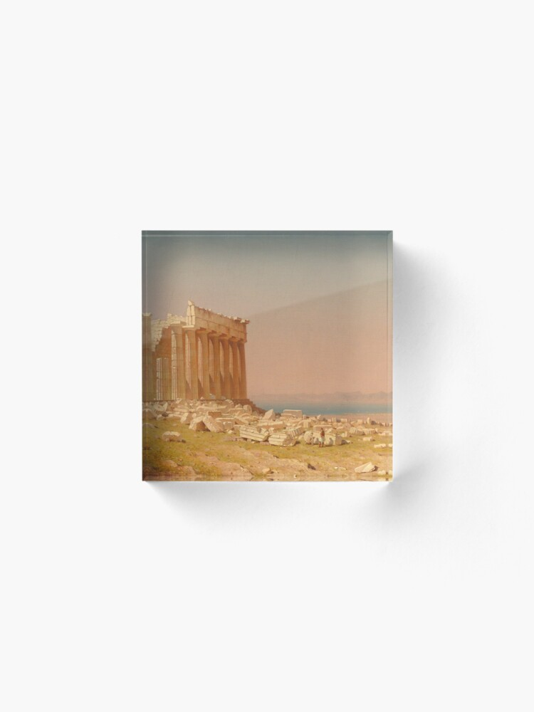Alternate view of Ruins of the Parthenon Oil Painting by Sanford Robinson Gifford Acrylic Block