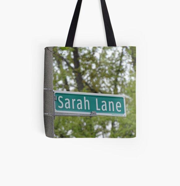 Sarah Lane, Sarah, Sarah mask, Sarah mug, Sarah magnet, Sarah sticker,  All Over Print Tote Bag