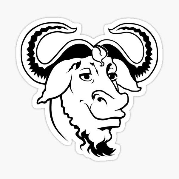 GNU head  Sticker